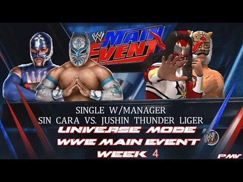 WWE 2K14 - Universe Mode WWE Main Event Week 4 - Sin Cara vs Jushin Liger Cruiserweight Title