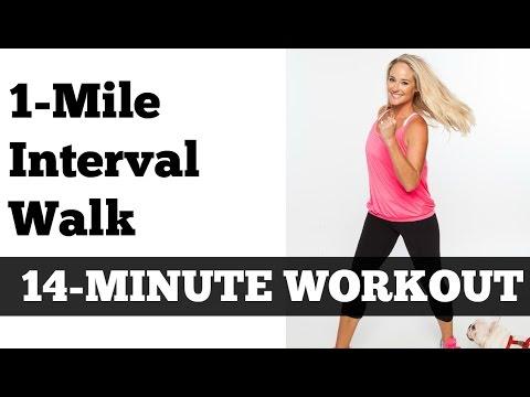 1 Mile Fast Interval Walk   Low Impact Indoor Power Walking Jogging Workout