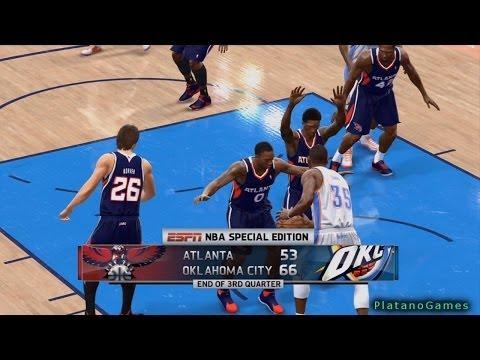 NBA Live 14 PS4 - Atlanta Hawks vs Oklahoma City Thunder - 4th Qrt -  HD