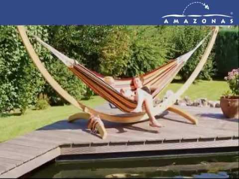 Gran soporte para hamacas arcos madera youtube - Arcos de madera para jardin ...