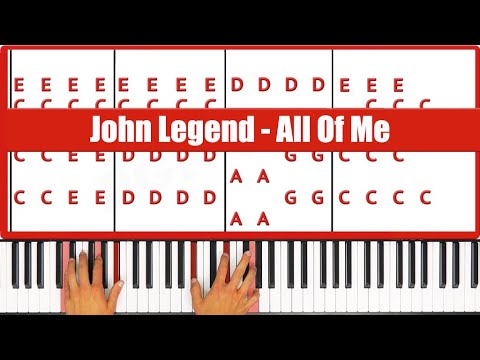 ♫ EASY - How To Play All Of Me John Legend Piano Tutorial Lesson! - PGN Piano