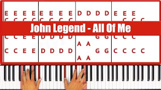 ♫ EASY How To Play All Of Me John Legend Piano