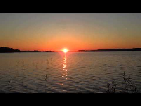 FINLAND Midsummer sunrise Lake Puruvesi