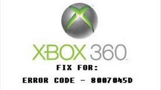 Fix For Error Code 8007045D Xbox 360 Tutorial