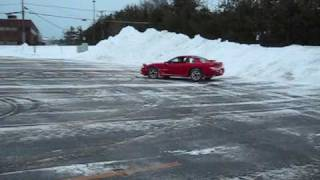 1992 Dodge Stealth RT/TT doing donuts in the snow