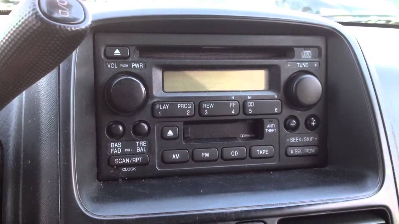 To Reset Radio For Honda Accord 2001 Autos Post