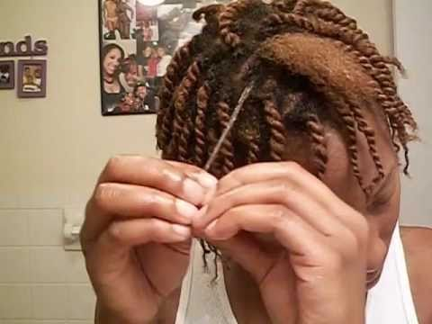 Two Strand Twist Pin Up Youtube