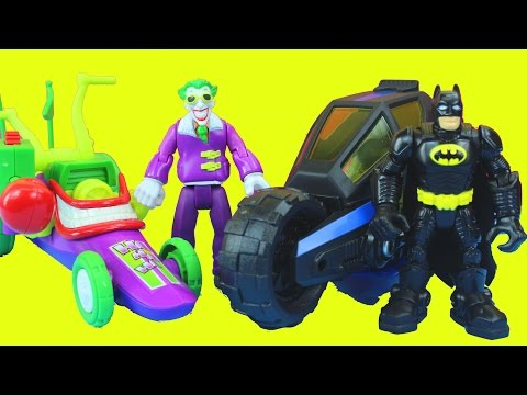 Joker's Dream with Batman Batcycle Joker Funny car Captain America Thor Wolverine Spider-man