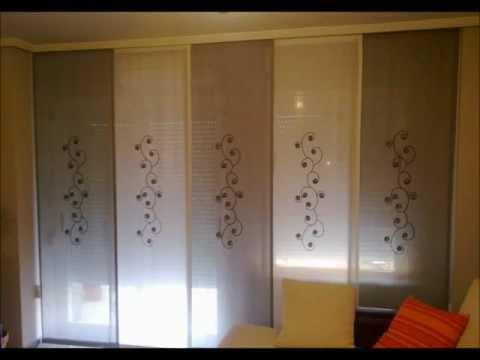Decorar cuartos con manualidades paneles japoneses bricor for Telas para paneles japoneses