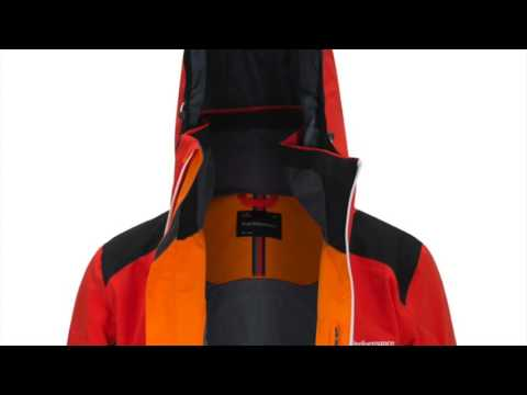 Peak Performance Maroon Block Mens Ski Jacket in Flame Red