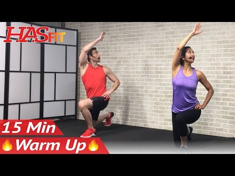 17 Min Cardio Warmup + Dynamic Stretching for Running Lifting HIIT: Warm Up Exercises Before Workout