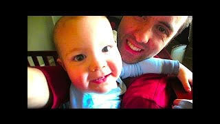 CRAZY DAD IN A CRIB WITH A CUTE BABY!!!