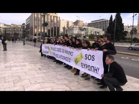 Protest in Athens against the deaths of immigrants in Farmakonisi