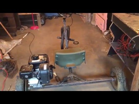 home made motorized trike 6 1/2 HP part 1