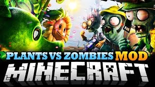 Minecraft Mod PLANTS VS ZOMBIES MOD Protect Your Home
