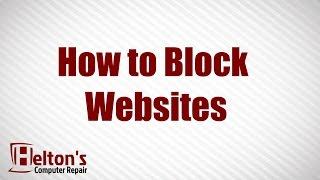 How To Block Websites XP / Vista / 7