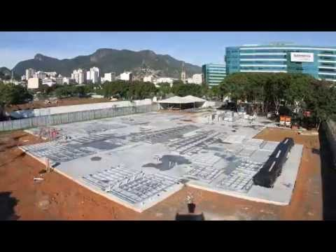 Rio 2016 Olympic City Building  Being Built - Timelapse- Steel Framing