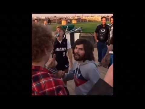 Драка Noize MC  vs Юрий Хованский. Noize mc избивает Хованского. - drakoff.ru