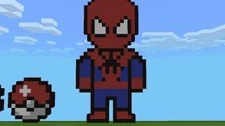 Minecraft Pixel Art: Como Hacer A El Hombre Araña