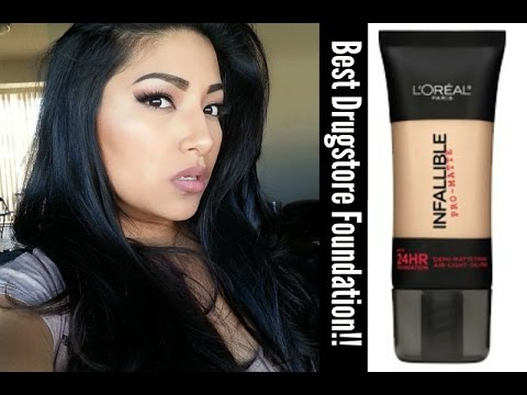 NEW L'OREAL Infallible Pro-Matte Foundation 24HR 108 Caramel Beige FIRST IMPRESSIONS Full Review