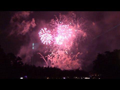 Epcot New Years Eve Fireworks Finale 2014 from The International Gateway Bridge, Walt Disney World,