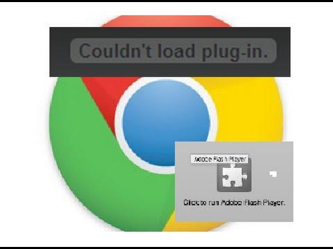 google chrome flash player problem