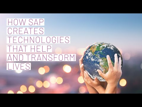 How SAP comes up with technologies that help and transform people's lives