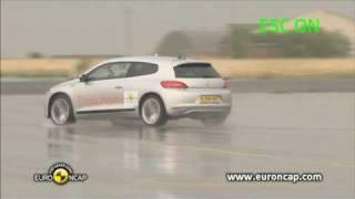 Volkswagen Scirocco ESC test - Euro NCAP - 2009