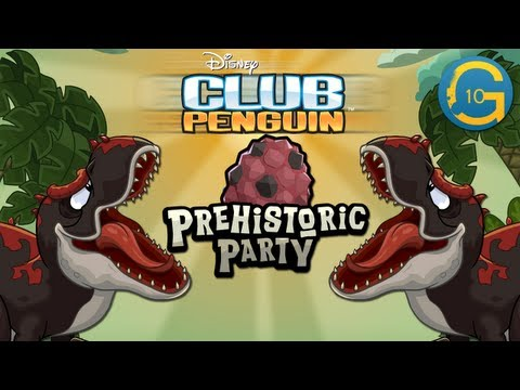 Club Penguin - Prehistoric Party 2013 Walkthrough