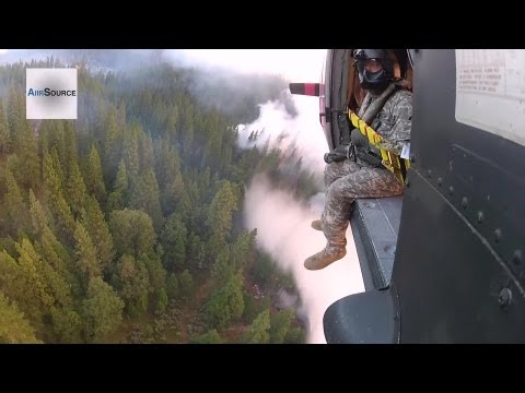 Aerial Firefighting: National Guard Helicopter Battles the Rim Wildfire at Yosemite | AiirSource