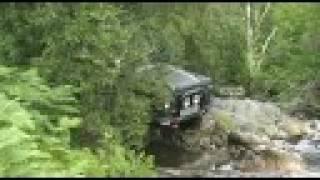 V8 Land Rover Defender 90, Laggan Trials