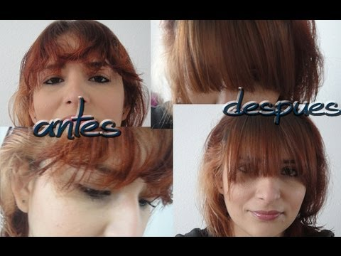 Como hacer el alaciado permanente(fleco)-How to make the permanent straightening(fringe)