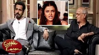 Emraan Hashmi INSULTS Aishwarya Rai Koffee With Karan 26th