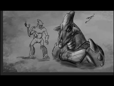 Digitally Drawing Aliens - Concept Art for the Blackstone Eternal Comic Book - Video