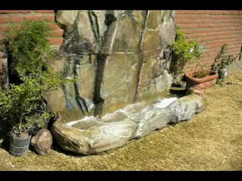 cascada artificial de rocas para agua en jardines youtube On motor para cascada de jardin