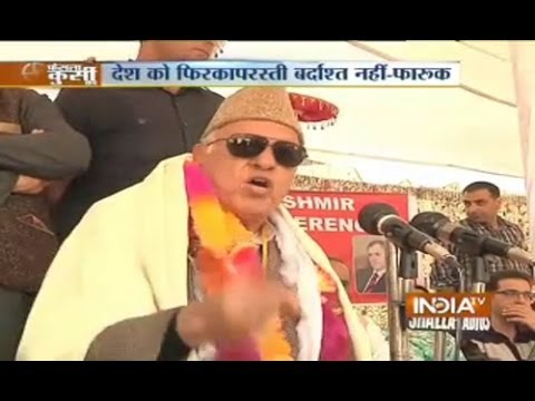 Watch: Farooq Abdullah attacks on Modi after Blast in Srinagar