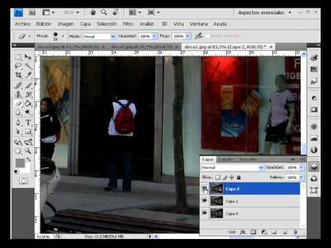 photoshop cs4 eliminar cosas de la imagen videotutoriales.es