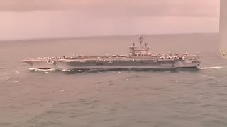 USS George H W Bush CVN 77 Is On It's Way To Crimea