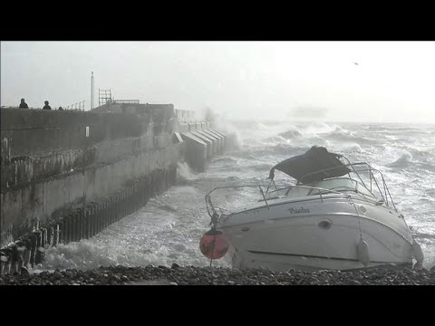 Fierce storm lashes England, France