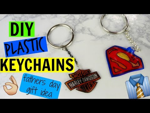 DIY PLASTIC KEYCHAINS!   LAST MINUTE FATHERS DAY GIFT IDEA!