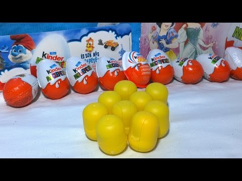 Kinder Surprise Eggs Toys Unboxing 9 Kinder Crocodiles Characters-Überraschungsei Auspacken