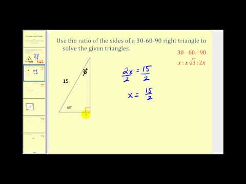 Solving Special Right Triangles