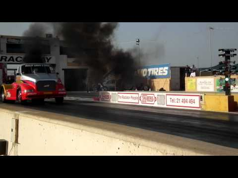 Maksar Racing Team, Diesel drag racing truck 10.1 seconds run.