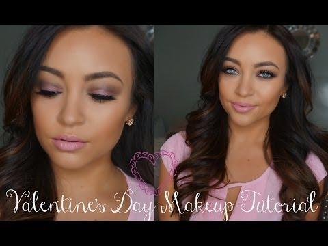 Soft Pink Valentine's Day Makeup Tutorial - Pink valentin napi smink
