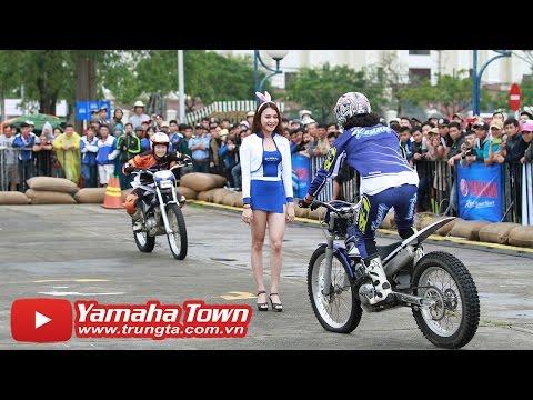 Pha stunt ôm người đẹp của tay đua Nhật Bản với Exciter 150 và Yamaha R3 ✔