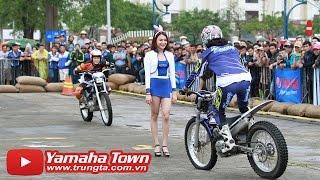 Biểu diễn xe moto ôm Người Đẹp của tay đua Stunt Nhật Bản với Exciter 150 và Yamaha R3 ✔