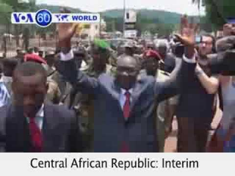 Central African Republic President Michel Djotodia resigns at regional meeting-VOA60 World 01-10