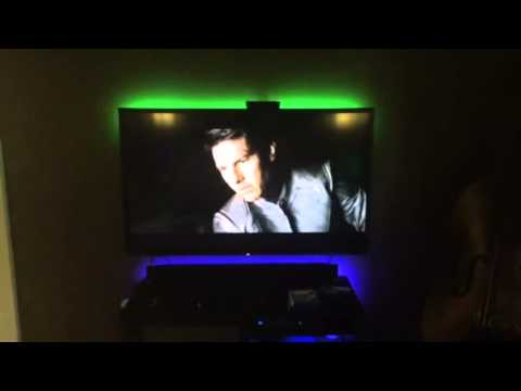philips hue light strips on tv huelights. Black Bedroom Furniture Sets. Home Design Ideas