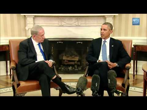 President Obama meets Benjamin Netanyahu