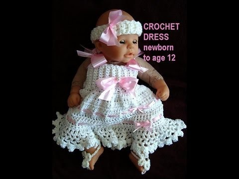 CROCHET SUNDRESS, newborn to age 12, free crochet pattern ...